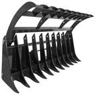 "84"" Root Grapple Rock Rake Skid Steer Clamshell Attachment loader V2"
