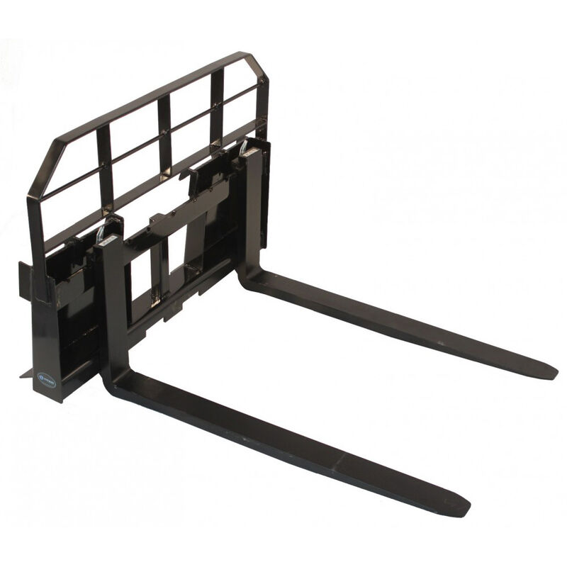 "60"" Skid Steer HD Pallet Fork Attachment 5500 lb Capacity Quick tach Tractor"