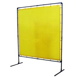 6'x6' Yellow Flame Retardant Welding Screen Curtain with Steel Frame