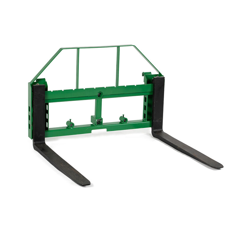 Titan 50-in Pallet Fork Frame Attachment with Receiver Hitch and 60-in Fork Blades – Fits John Deere Loader