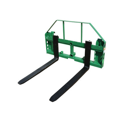 Titan 50-in Pallet Fork Frame Attachment, 4,000 LB Capacity, Receiver Hitch and Fork Blades – Fits John Deere Loader