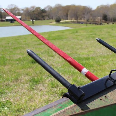 "43"" Universal Bucket Hay Bale Spear Attachment"