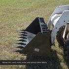 """72"""" Skid Steer Dirt Bucket With Teeth"""