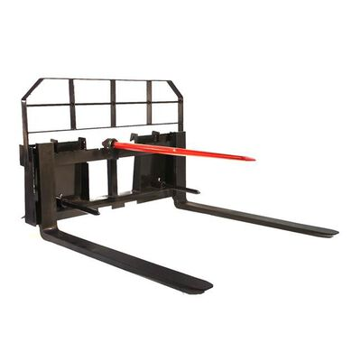 "60"" Pallet Fork Hay Bale Spear Attachment 5500 lb Capacity Skid Steer"