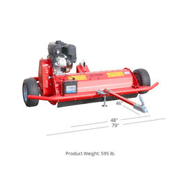 """SCRATCH AND DENT - ATV Tow Behind Flail Mower for Land Maintenance   48"""" Mowing Width - FINAL SALE"""