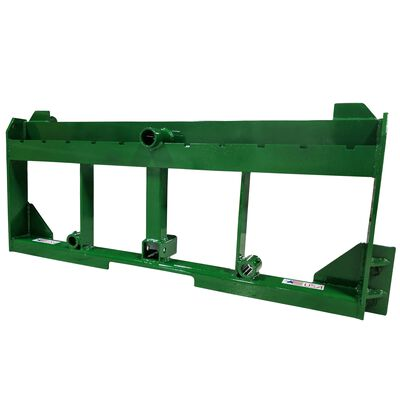 """SCRATCH AND DENT - UA Made In The USA Pallet Fork Frame with 2"""" Trailer Receiver Hitch for John Deere Loader - FINAL SALE"""