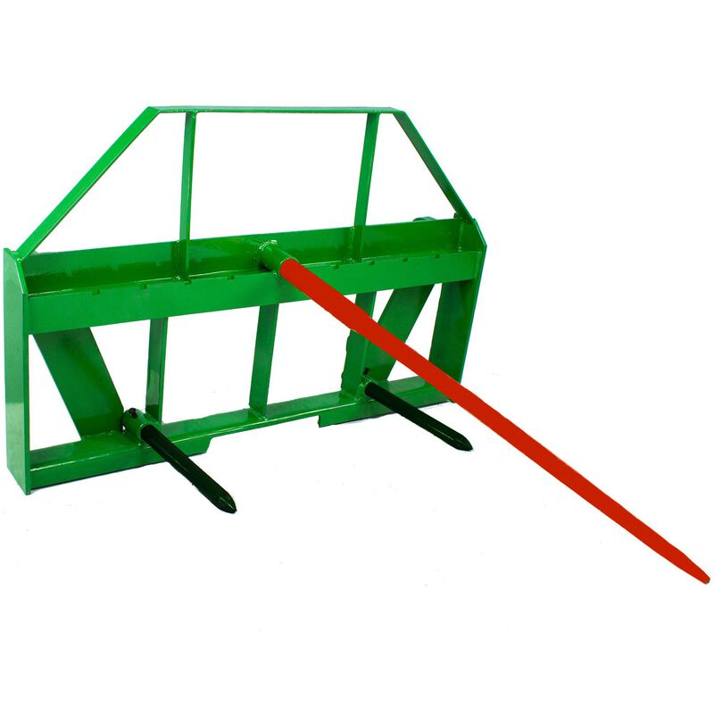 """49"""" Hay Spear Attachment Fits John Deere Global Euro Style Coupler Loaders"""