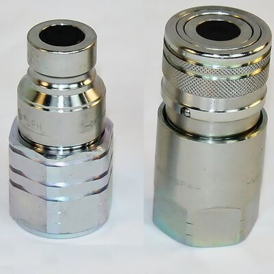 "1/2"" Flat Face Hydraulic Quick Connect Coupler NPT"