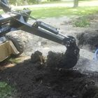 Skid steer Fronthoe excavator attachment with 10 inch Bucket and Thumb
