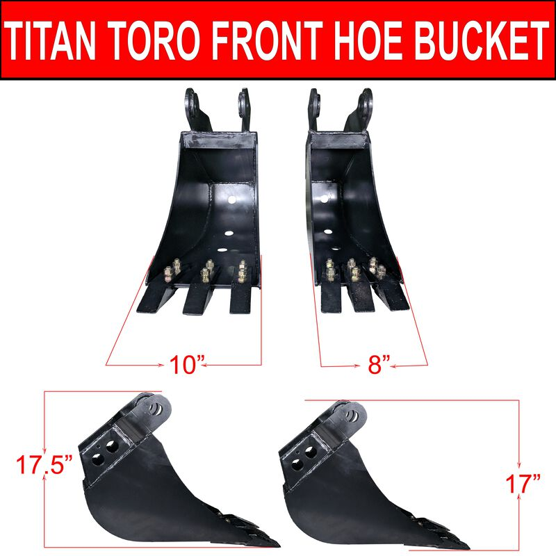"10"" Fronthoe Bucket"