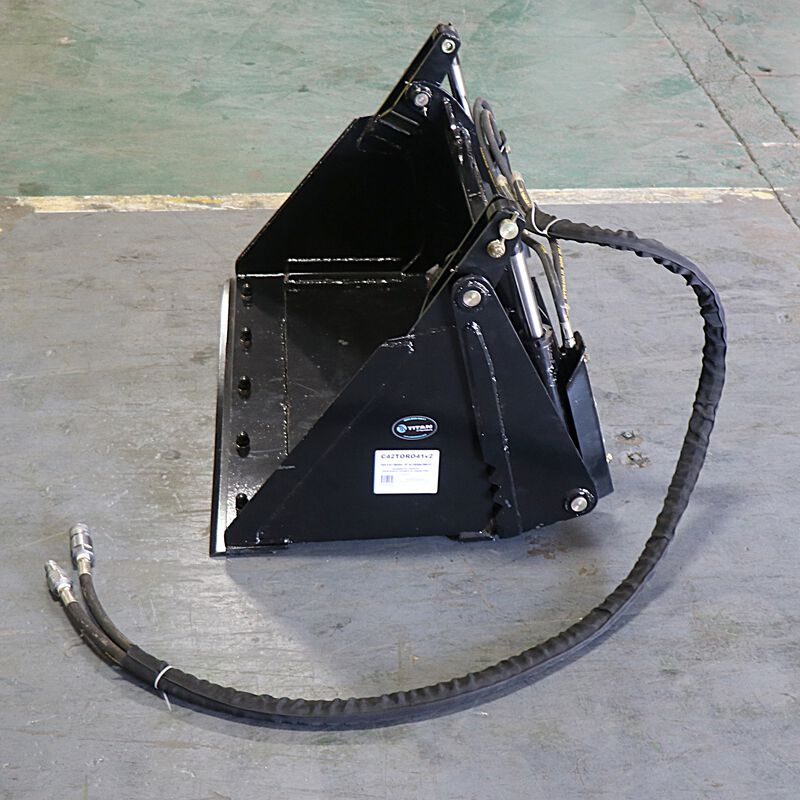 4-In-1 Combo Mini Skid Steer Bucket | Cutting Edge | 42"