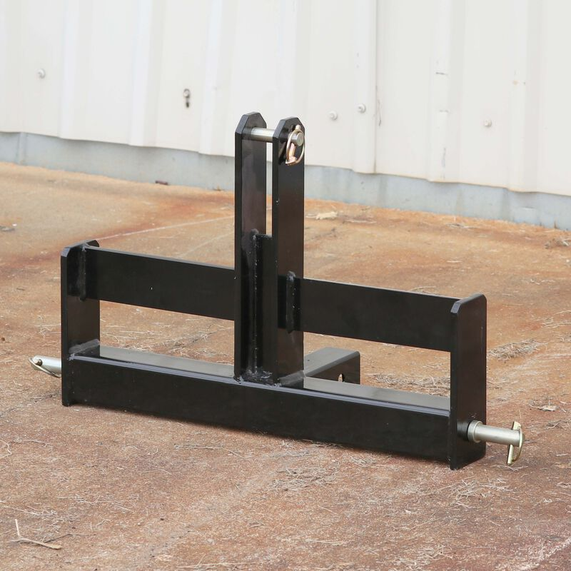 """Tractor Drawbar with Suitcase Weight Brackets   2"""" Receiver   CAT 1 3-Point"""
