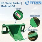 UA Extreme HD Stump Bucket Designed Fits John Deere – Made In USA