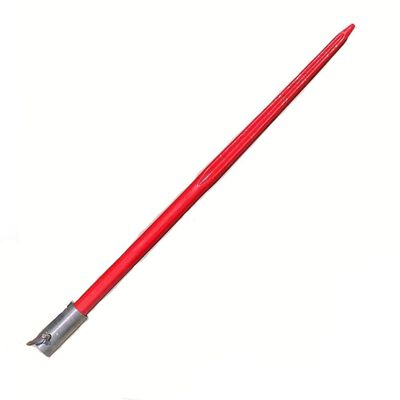 "47"" Fluted HD Pin-on Bale Spear 3000 lbs capacity, 1 3/4"" wide with pin and sleeve (Betty)"