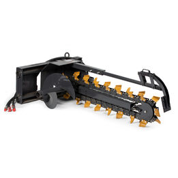 """Blemished 48"""" Trencher Skid Steer Attachment"""