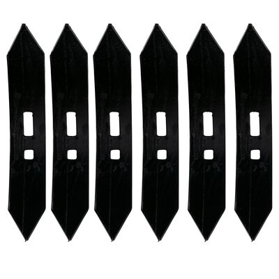 Set of (6) Chisel Teeth for Cultivator