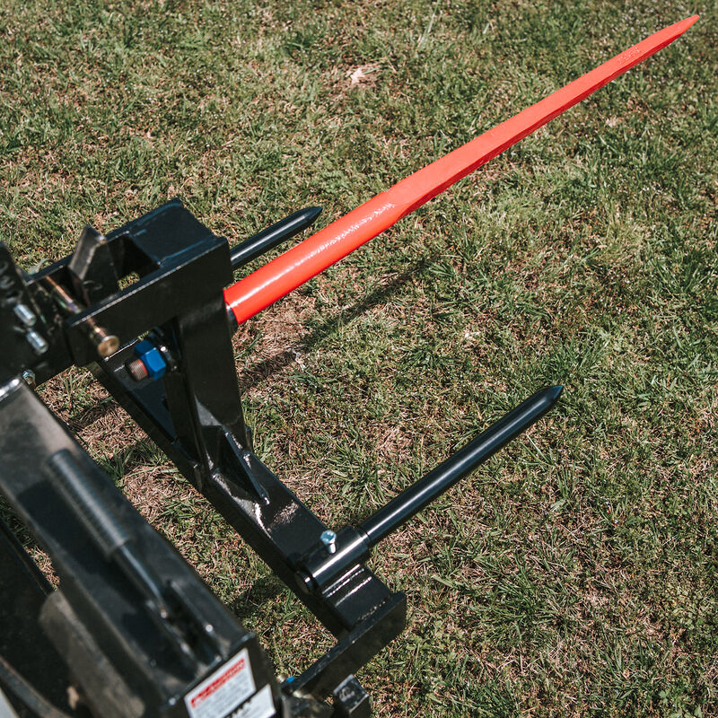 """Category 1 Tractor 3 Point Attachment w/43-in Hay Spear & 2 17"""" Stabilizers 