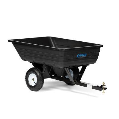 Scratch and Dent - 400 LB ATV & UTV Poly Dump Cart - Tow Behind Cart & Hauling Trailer Hitch - FINAL SALE
