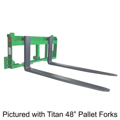 "UA Made in the USA 36"" Pallet Fork with 2"" Trailer Receiver Hitch fit John Deere"