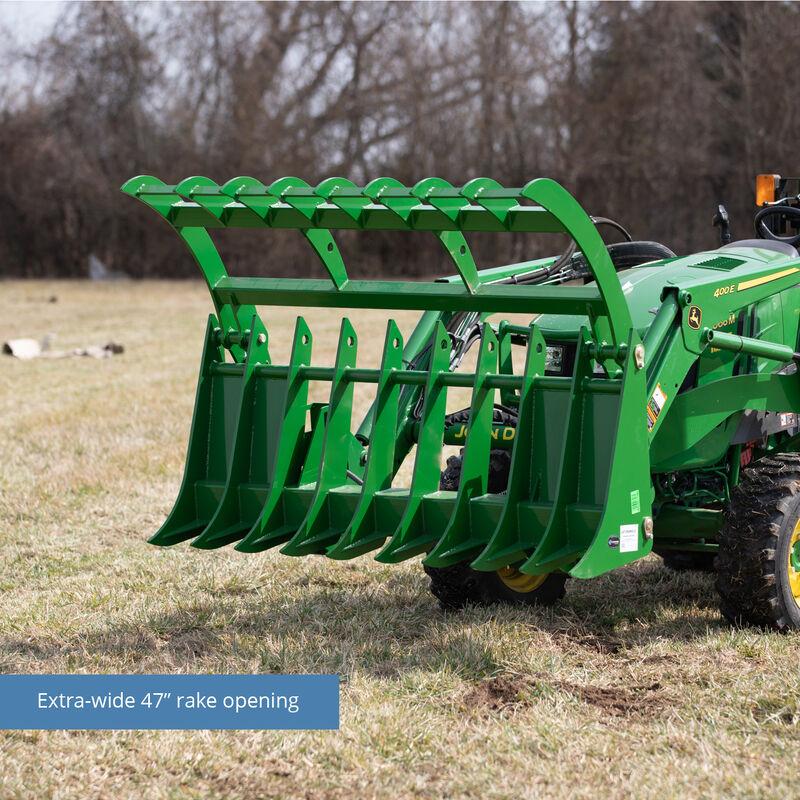72-in Root Grapple Rake Attachment Fits John Deere Loaders