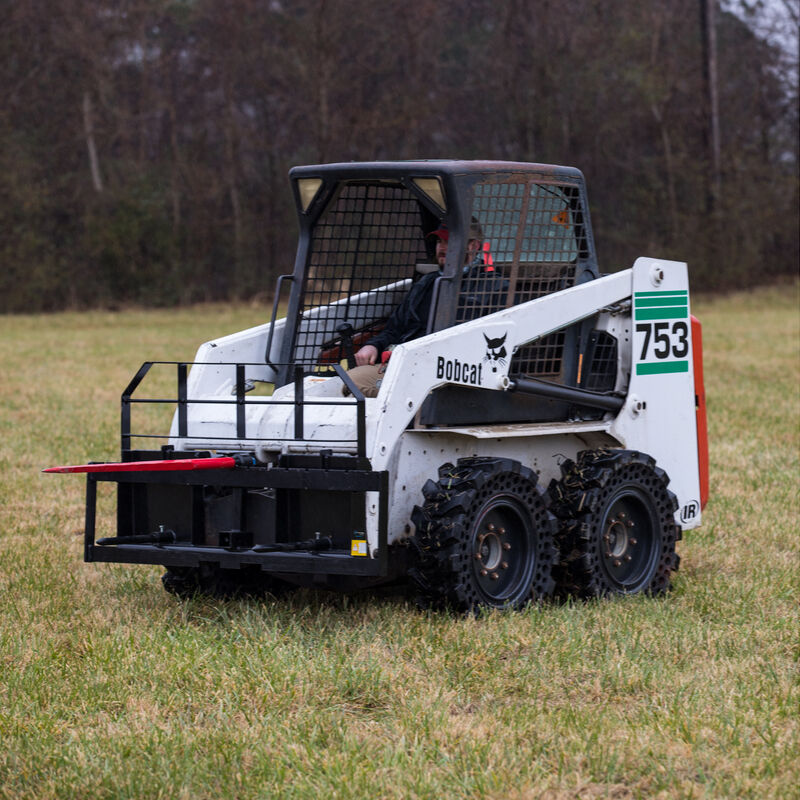 Titan 60-in XL Hay Frame Attachment with Receiver Hitch, 39-in Hay Spears, and Stabilizers