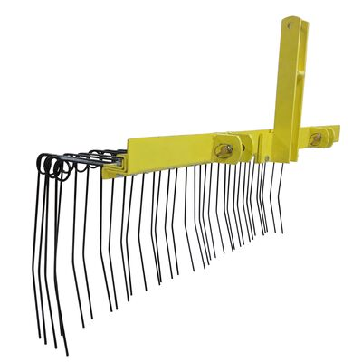 Pine Straw Needle Rake 6 ft for Cat 1, 3 Point