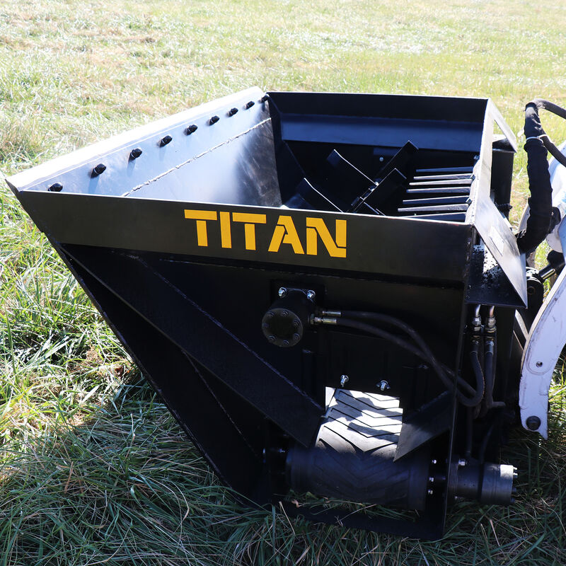 72-in Side Discharge Bucket For Sand And Mulch
