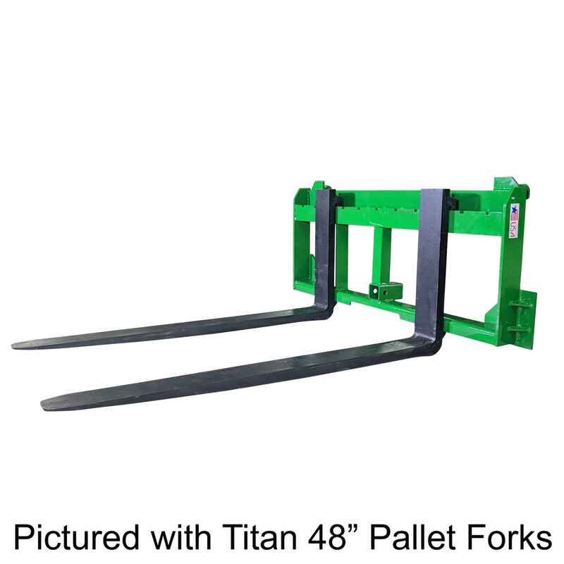 "UA Made in the USA 48"" Pallet Fork with 2"" Trailer Receiver Hitch fit John Deere"