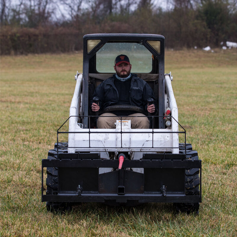 Titan 60-in XL Hay Frame Attachment with Receiver Hitch, 49-in Hay Spears, and Stabilizers