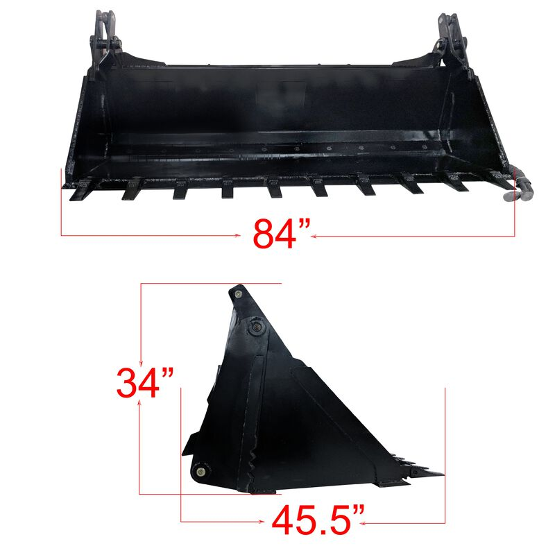 "84"" 4-In-1 Combo Bucket w/ Teeth"