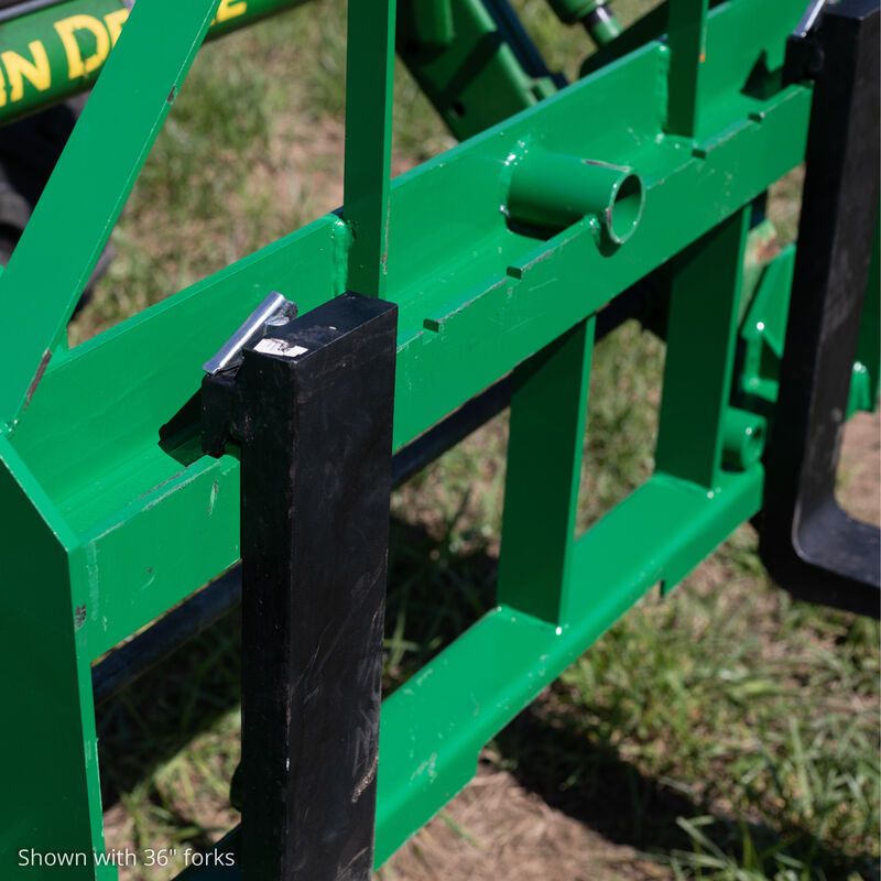 Pallet Fork Frame Attachment with 60-in Fork Blades