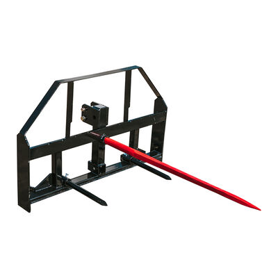 3-Point, 49-in Pallet Fork Hay Frame  Attachment with Rack, Receiver Hitch, Carriage Bar