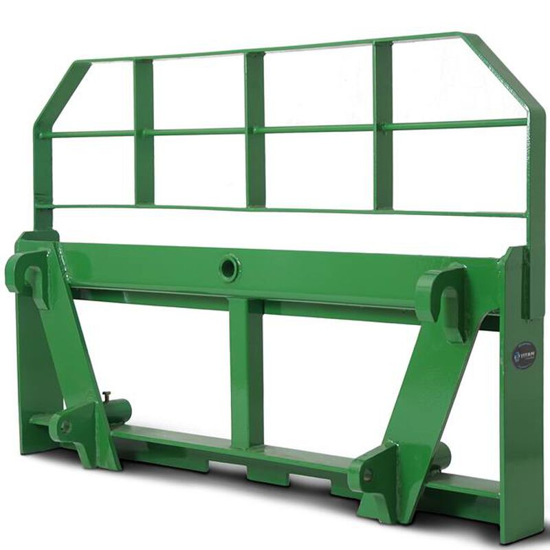 "HD Global Euro 42"" Pallet Fork Attachment w/ 49"" Hay Bale Spear fits John Deere"
