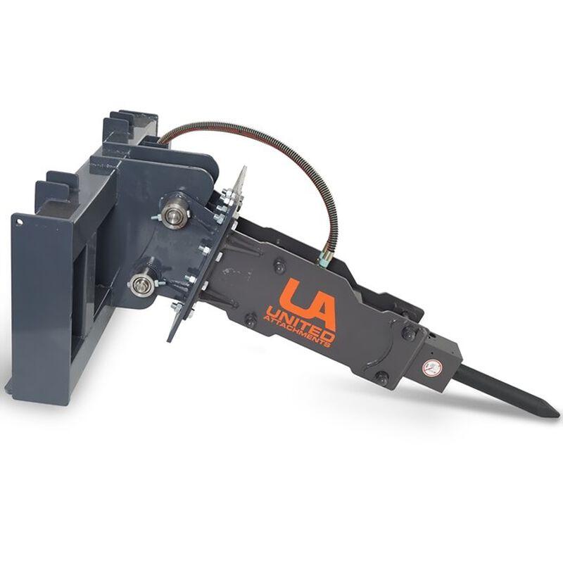 UA-450 Hydraulic Breaker w/  Skid Steer & Excavator Combo Mount Plate