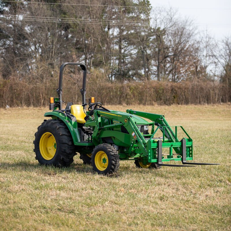 Titan 50-in Pallet Fork Frame Attachment with Receiver Hitch and 48-in Fork Blades – Fits John Deere Loader