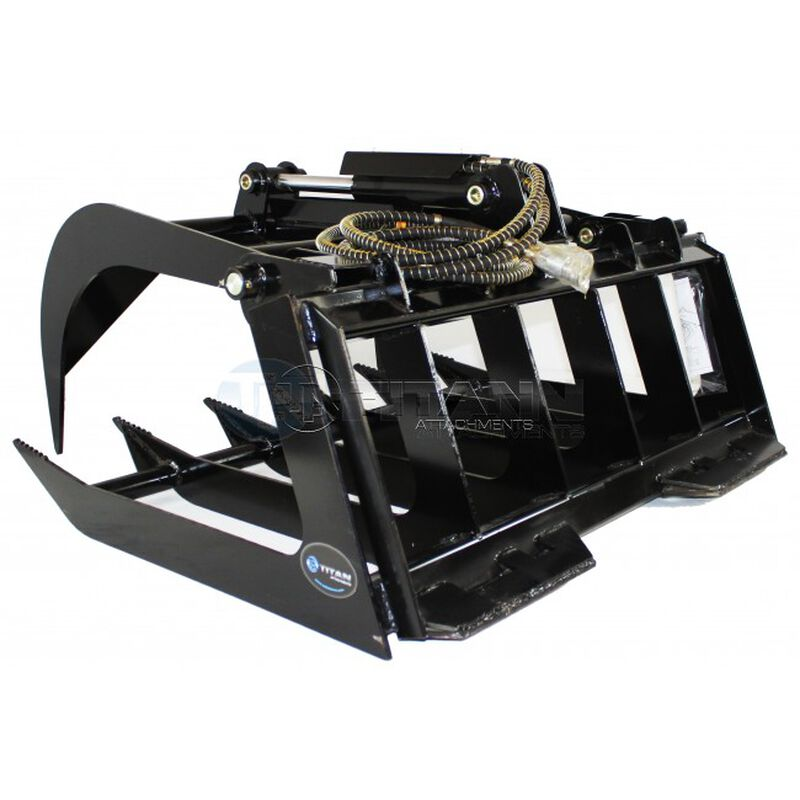 "48"" Grapple Bucket Attachment for Skid Steer"
