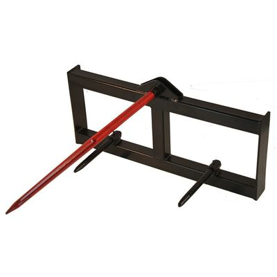 "39"" Skid Steer Hay Spear Quick Tach Attachment"