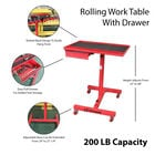 Rolling Work Table With Drawer | Adjustable