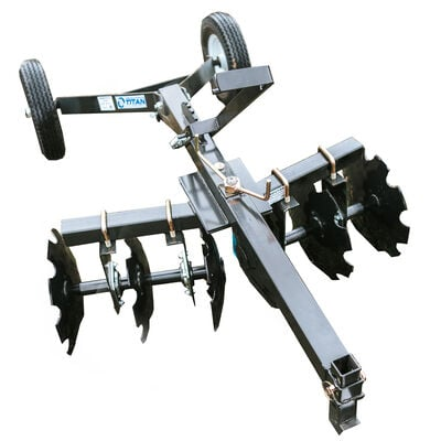 4 FT ATV Transformer Tow Frame With Notched Disc Harrow Attachment