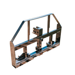 Pallet Fork Hay Frame Attachment with Rack, Receiver Hitch, Spear Sleeves Fits Cat I & II Tractors