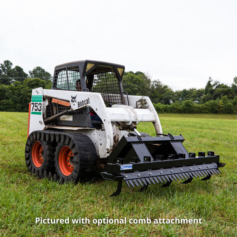 Titan 72-in Ripper Scarifier Skid Steer Attachment With Optional Comb Attachment