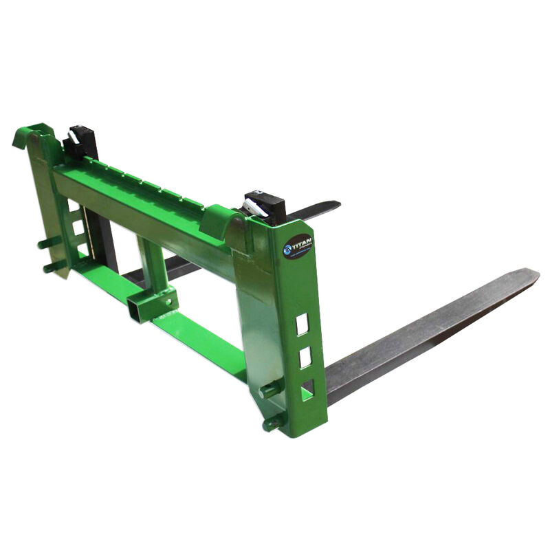 """48"""" Pallet Fork Attachment with 2"""" Trailer Receiver Hitch fits John Deere Loader"""
