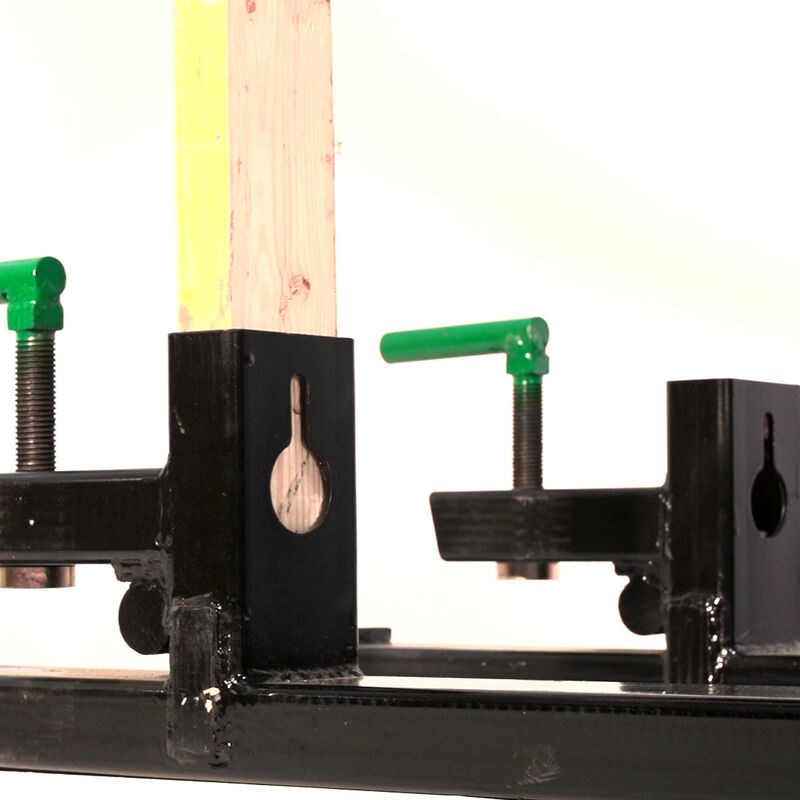 """43"""" Clamp On Pallet Forks 4,000 lb Capacity w/ Stabilizer Bar"""