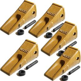 1U3252 Bucket Teeth w/ Side Pin and 8E6258 Retainer (5 Piece)