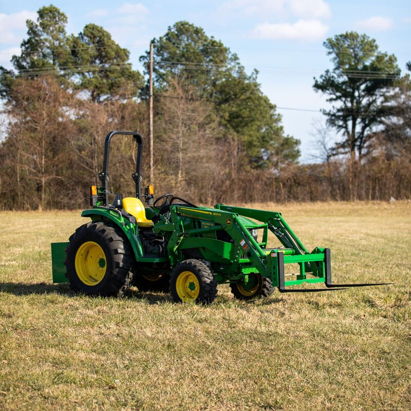 Titan 50-in Pallet Fork Attachment With Receiver Hitch And 42-in Fork Blades Fits John Deere Loader