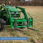 Titan 50-in Pallet Fork Frame Attachment, 4,000 LB Capacity – Fits John Deere Loader