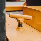 Fork Mounted Tilting 55 Gallon Drum Dumper | 800 LB Capacity