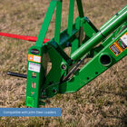 Titan 50-in Pallet Fork Frame Attachment with Receiver Hitch, 32-in Hay Spears, and Stabilizers – Fits John Deere Loader