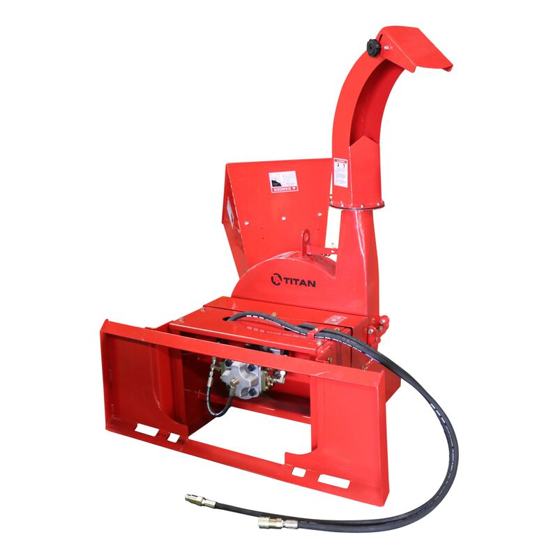 Hydraulic Wood Chipper for Skid Steers and Tractors with Universal Quick Tach