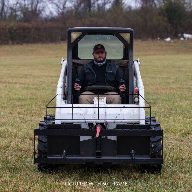 Titan 72-in XL Hay Frame Attachment with Receiver Hitch, 39-in Hay Spears, and Stabilizers